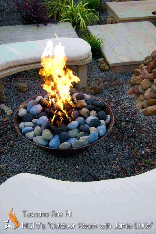 River Rock Fire Pit Info Pinterest