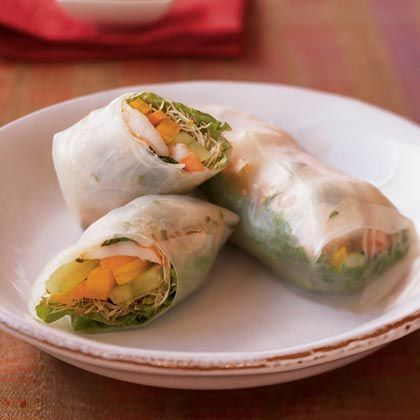 Fresh Spring Rolls with Dipping Sauce Recipe -I Health.com ...
