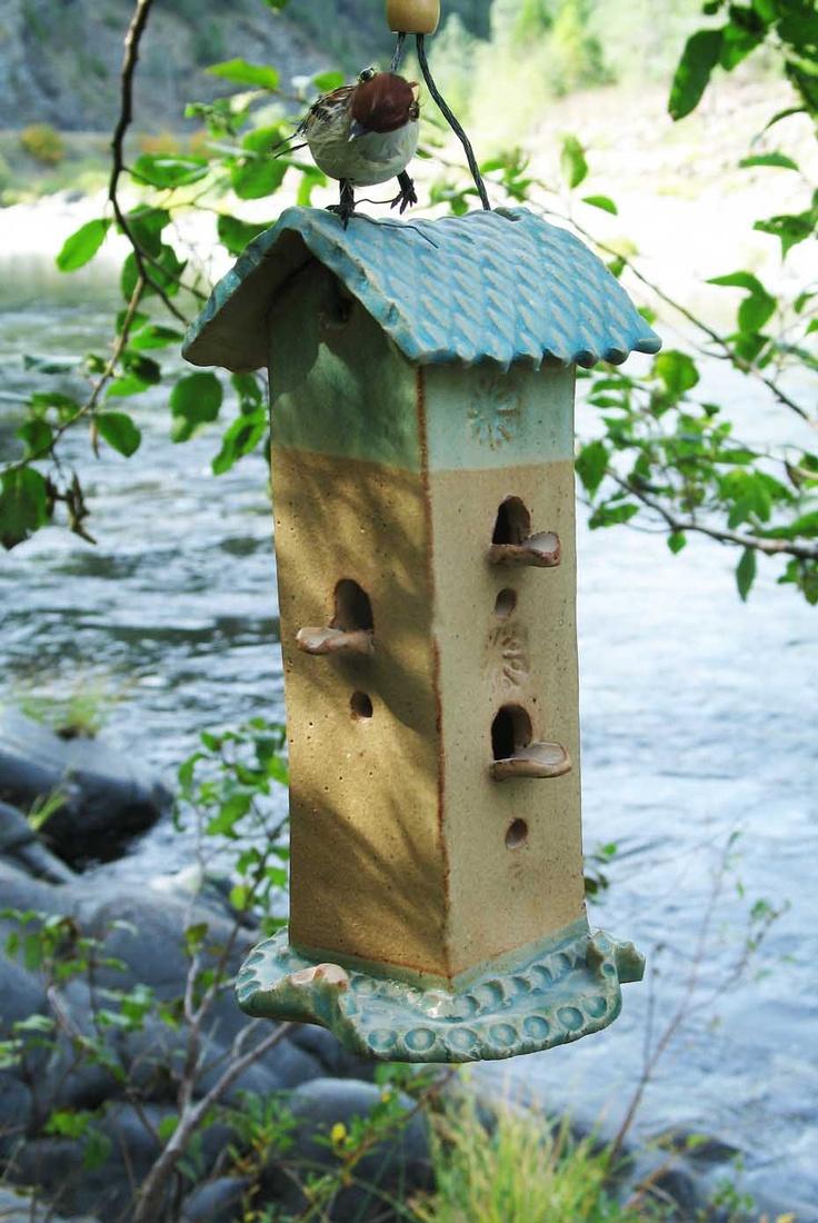 Ceramic Slab Bird Houses Ceramic Houses Pinterest