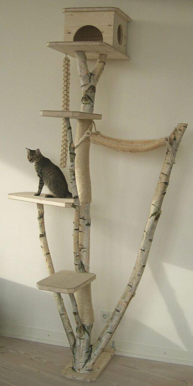 Кошка на дереве сделано своими руками