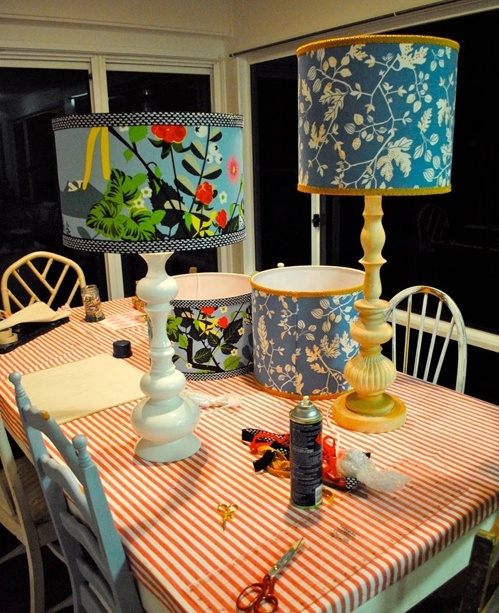 Allemaal zelf lampen maken ideeen  Lampshade - Lampenkap  Pinterest