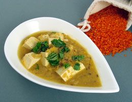 Red Lentil and Tofu Curry