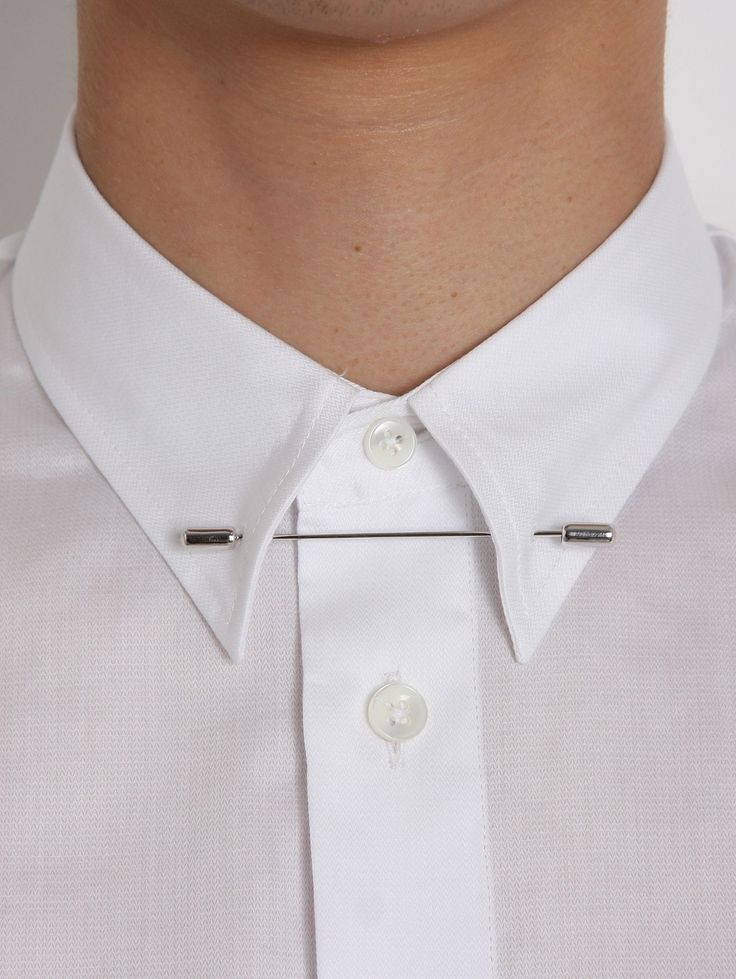 Collar bar really diggin 39 it inspirations for shiny for White shirt with collar pin