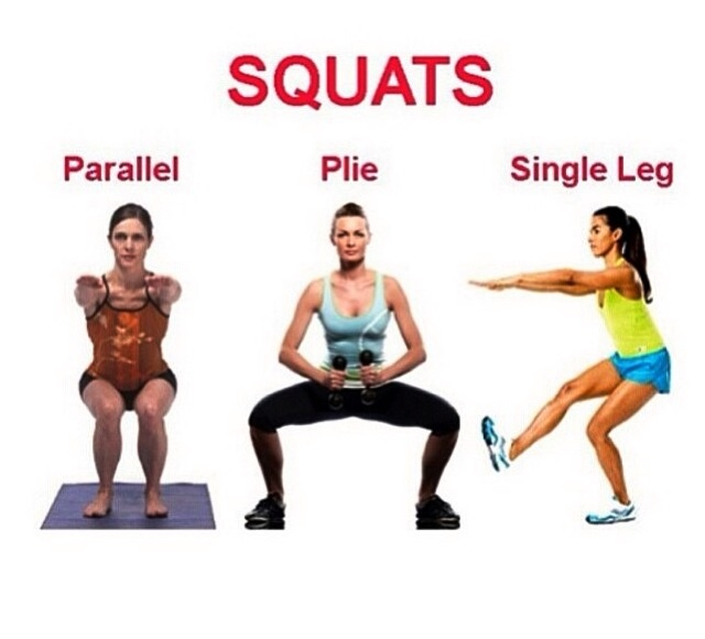 different types of squats