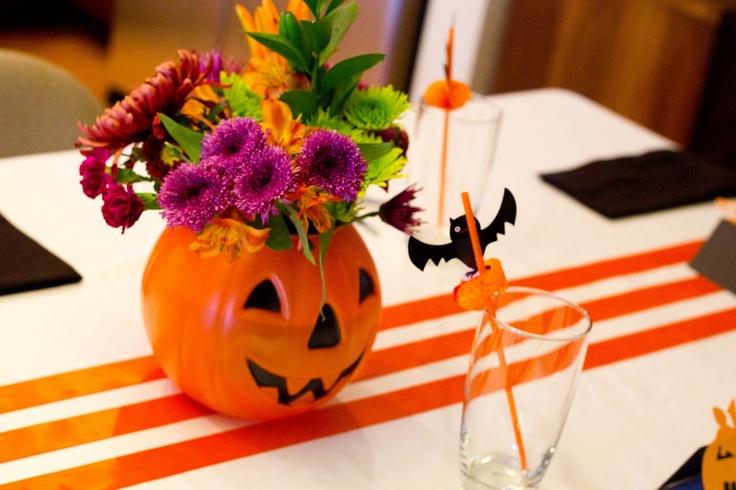 Centros de mesa para halloween - Decoracion de calabazas ...
