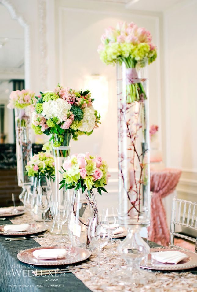 Bouquet Holders At Head Table
