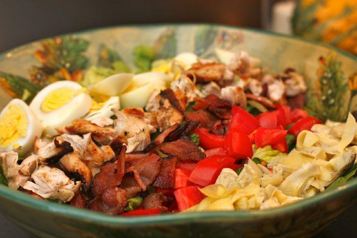 Cobb Salad with Basil Vinaigrette - Against All Grain