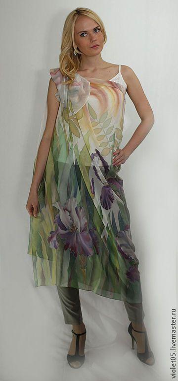 Ручная роспись на платье