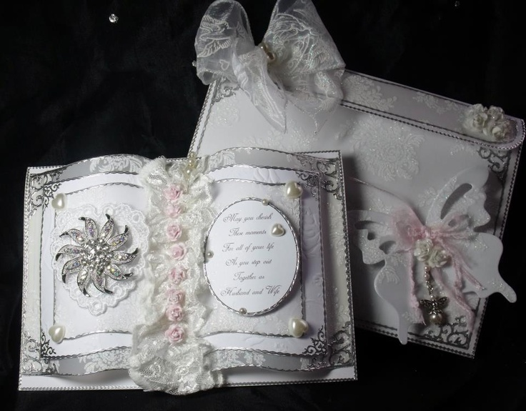 Wedding Gift Card Presentation : Wedding Book Card along with its presentation gift box. https://www ...