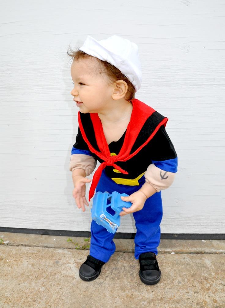 Boys Babies Costume Popeye Sailor Man Inspired Kids