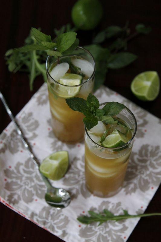 Pineapple Arugula Mint Mojitos Recipe — Dishmaps