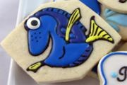 "Adorable ""Dory"" cookie By playful cookies, Blue yellow fish, nemo"