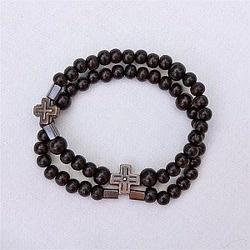 Sandalwood Rosary bracelet for men. Made with Sandalwood beads from India. Father's Day gift. $95.95 #CatholicCompany