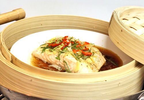 Scientifically Sweet: Soy-Ginger Steamed Salmon with Red Chili