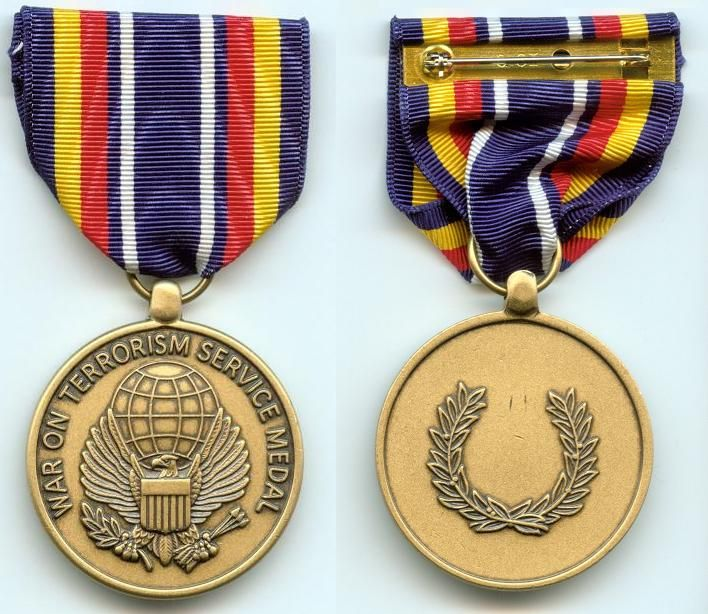 On terrorism service medal the global war on terrorism service medal