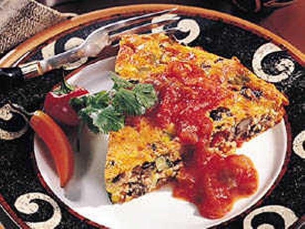 Impossibly Easy Southwestern Pie looks good for a dinner on a Friday ...
