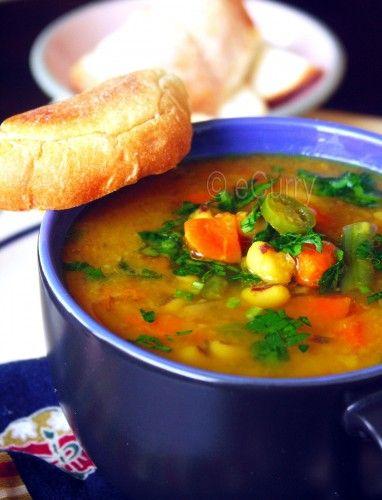 Red lentil & vegetable soup 1 | YUM YUM | Pinterest