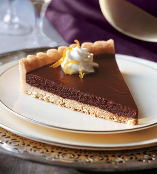Bittersweet Chocolate-Citrus Tart with Jasmine Whipped Cream: Recipe ...