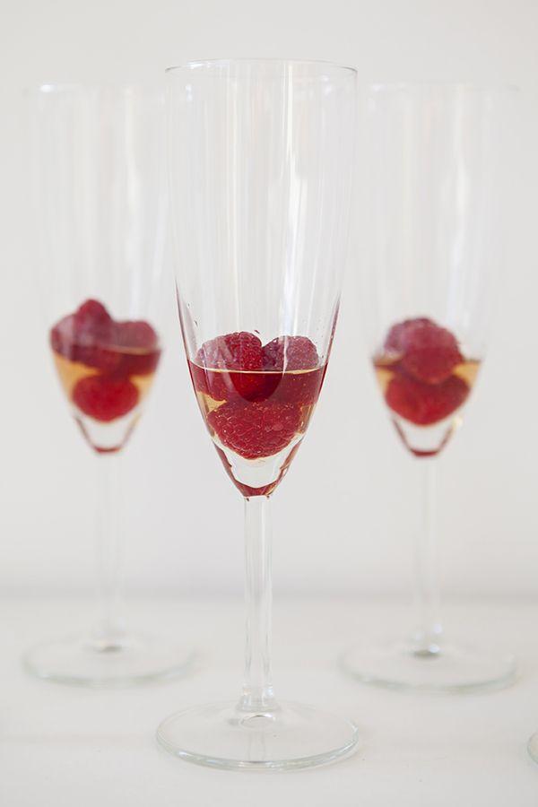 Signature Drink ~ raspberry champagne cocktail recipe!