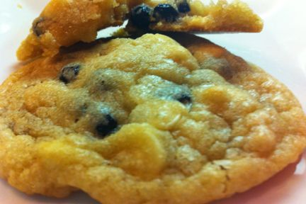 Blueberry and White Chocolate Chip cookies.