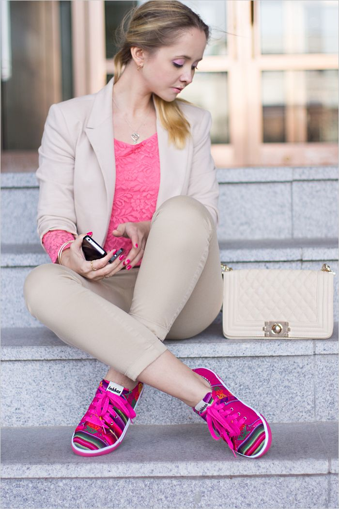 Fashion Blogger Olga Choi shows off her new pair of Inkkas - all the way from South Korea!