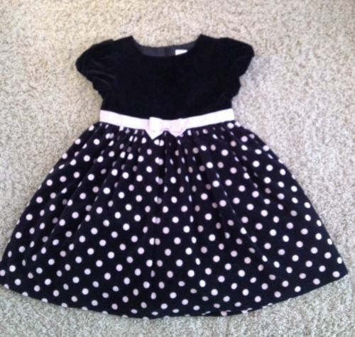 Gymboree little girls size 5t holiday dress euc black velvet amp pink