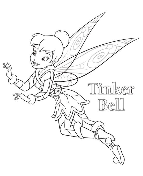 tinkerbell coloring pages free printables from tinkerbell movie - Tinkerbell Coloring Pages Disney