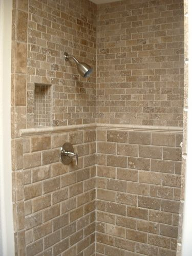 Like the subway travertine tile countertop backsplash for Travertine tiled bathroom designs