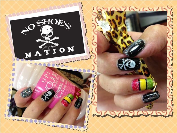 Country fest nails shellac and nail art | designs by Rachel | Pintere ...