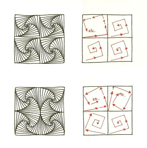 zentangle instructions step by step - Google SearchZentangle Patterns Tutorial