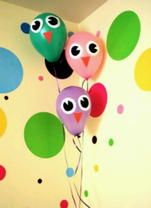 Owl balloons party pinterest