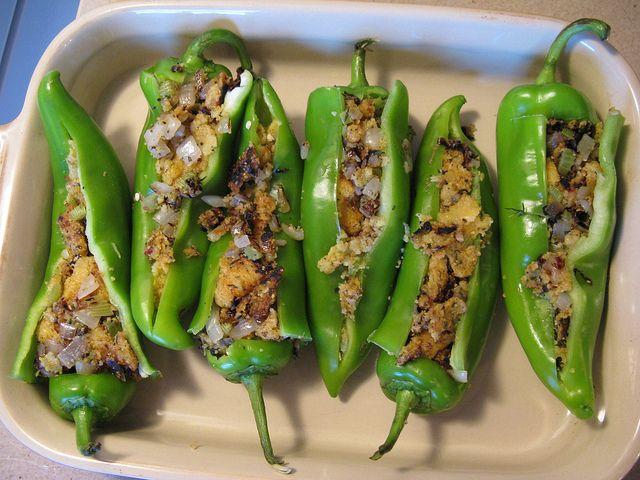 Polenta Stuffed Peppers | Stuffed Vegetables | Pinterest