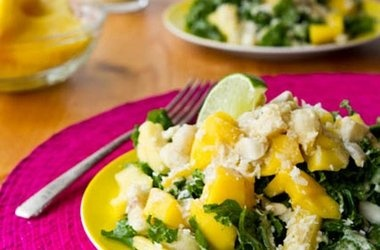 kale salad with lime dressing tropical lime torte with mango compote ...