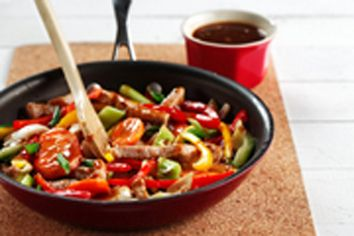Pork stir-fry with black beans in sauce | Recipes | Pinterest