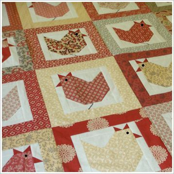 Hen Party Dessert Roll Quilt