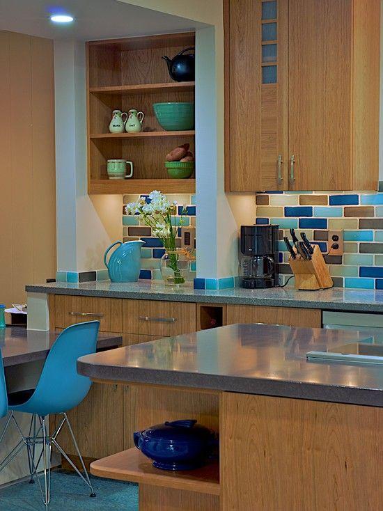 Kitchen Red Black Turquoise Aqua White Design Pictures Remodel