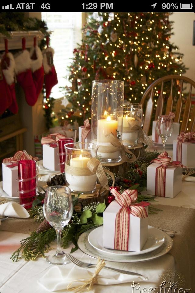 Christmas Table Setting- wow!!