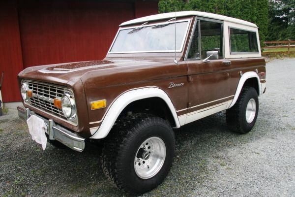 1976 Ford Bronco Ranger--Ours was painted all brown, had 2 gas tanks ...