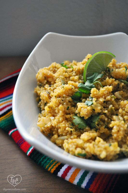 Lime Quinoa side dish. Lime zest and juice creates a bright and ...