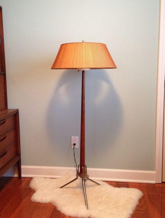 mid century danish modern floor lamp by twoguysvintage on etsy 350. Black Bedroom Furniture Sets. Home Design Ideas
