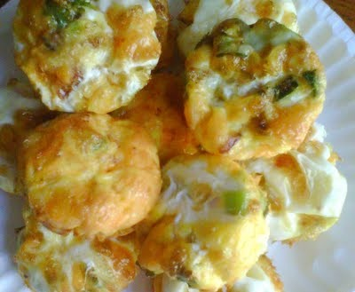 Cheesy Egg Muffins With Bacon & Green Onions
