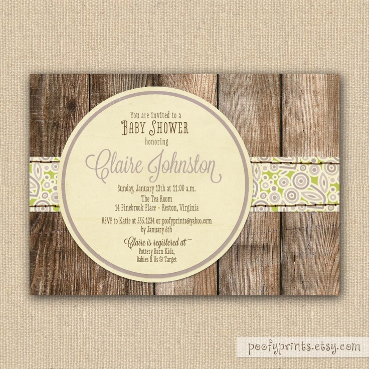 rustic baby girl shower invitations baby pinterest