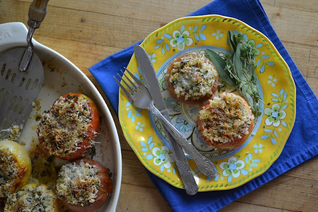 Provencal tomatoes recipe (stuffed tomatoes) from Great Island ...