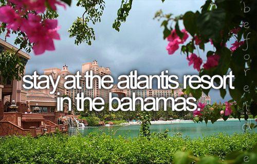 stay at the atlantis resort in the bahamas
