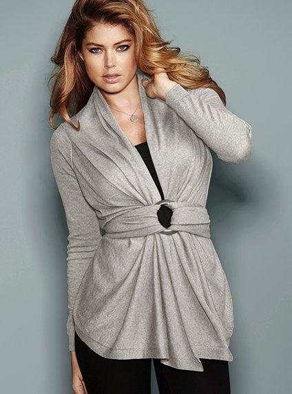 Cotton Cashmere Wrap sweater VS