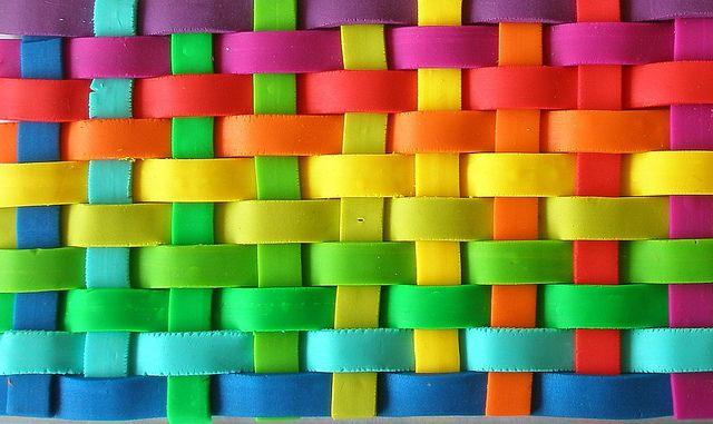Happy Color Beauteous Of Rainbow Weave Colors Image