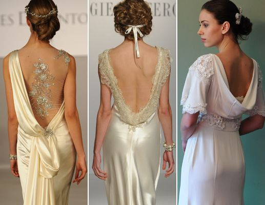 Trend report hot new wedding trends for fall 2013 and for Super low back wedding dress