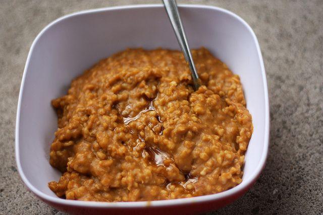 pumpkin spice crockpot oatmeal •1 1/2 cups of steel cut oats •1 15 ...