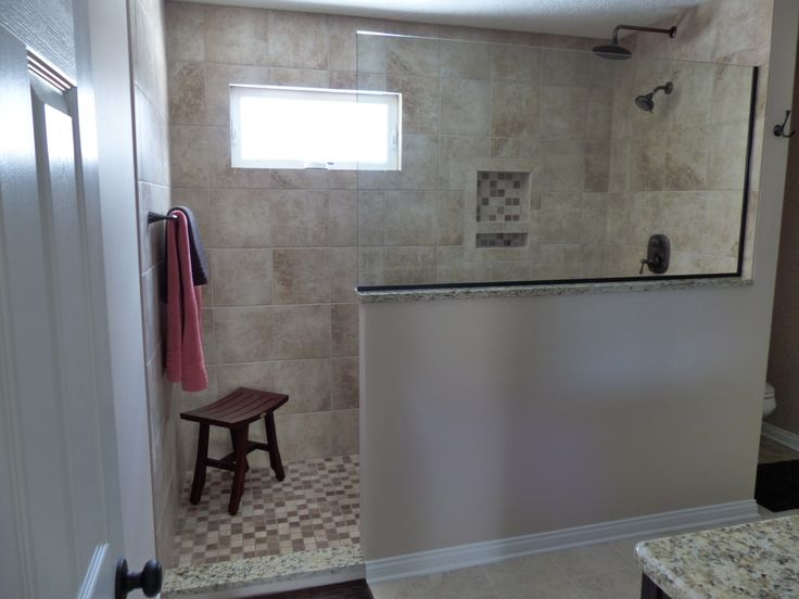 Doorless Walk In Shower Small Bathroom  Joy Studio Design Gallery ...