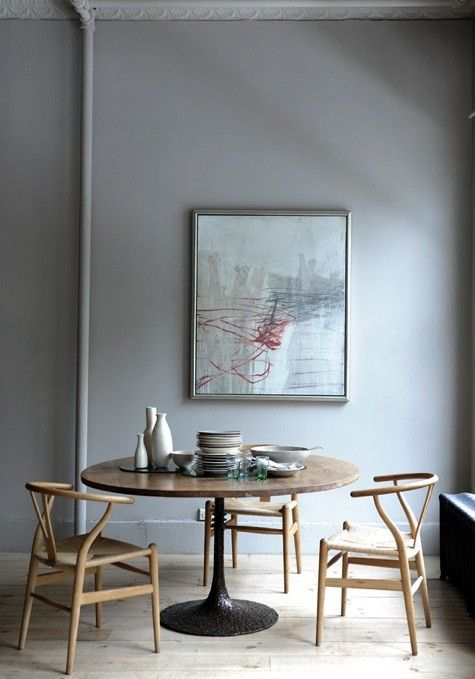 Tulip table wishbone chairs for the home pinterest for Wishbone chair table